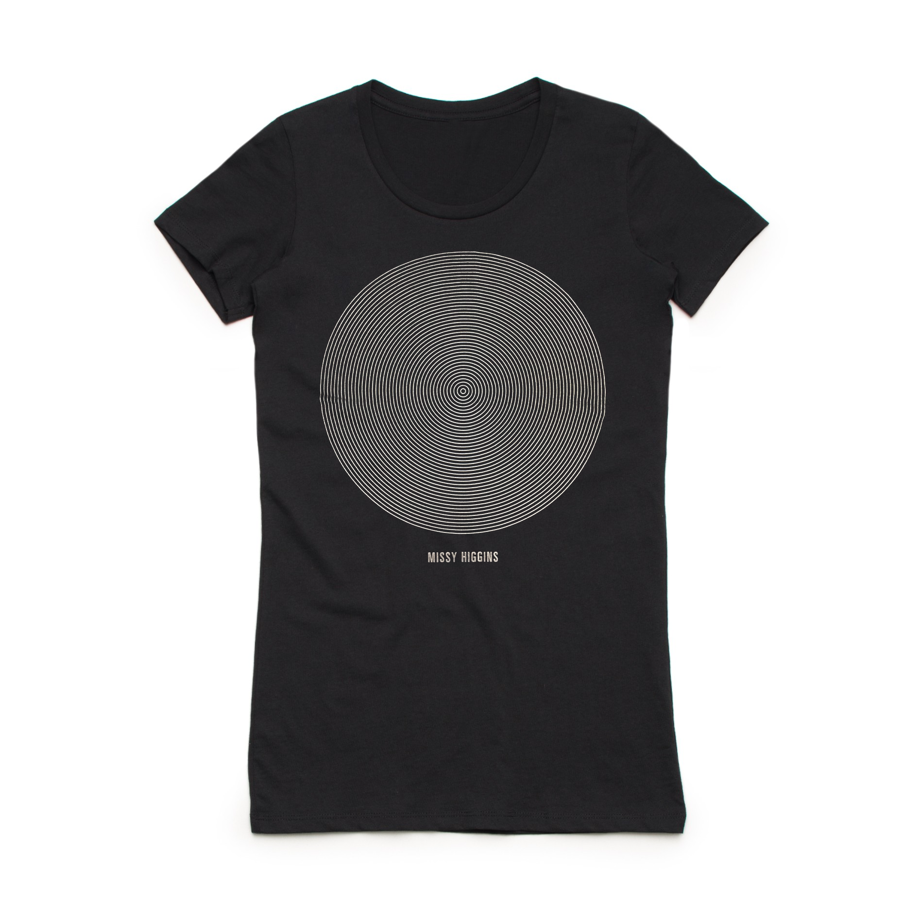 Black Summer Circle Tee Ladies